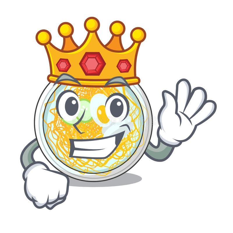 Βασιλιάς naengmyeon σε κινούμενα σχέδια μορφής απεικόνιση αποθεμάτων