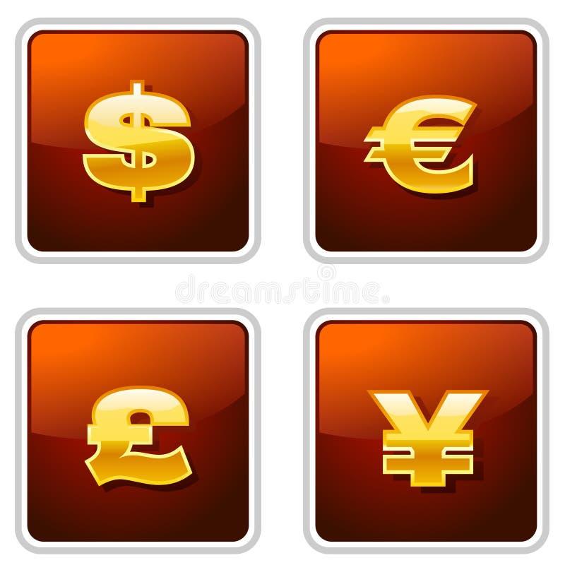 βασιλικά σημάδια νομίσματ&o διανυσματική απεικόνιση