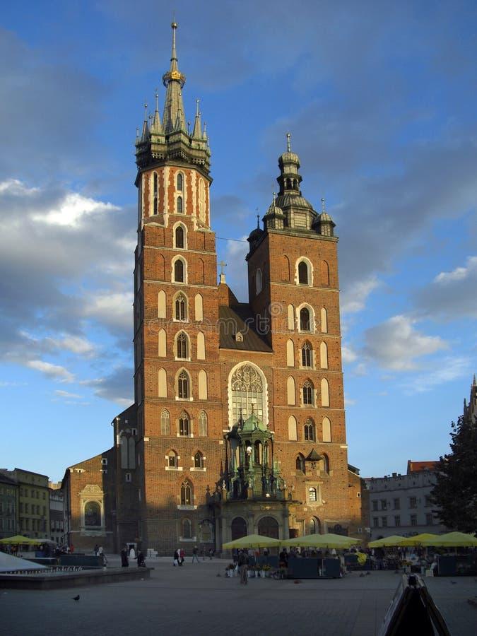 Βασιλική Κρακοβία Πολωνία Αγίου mary's στοκ φωτογραφία με δικαίωμα ελεύθερης χρήσης