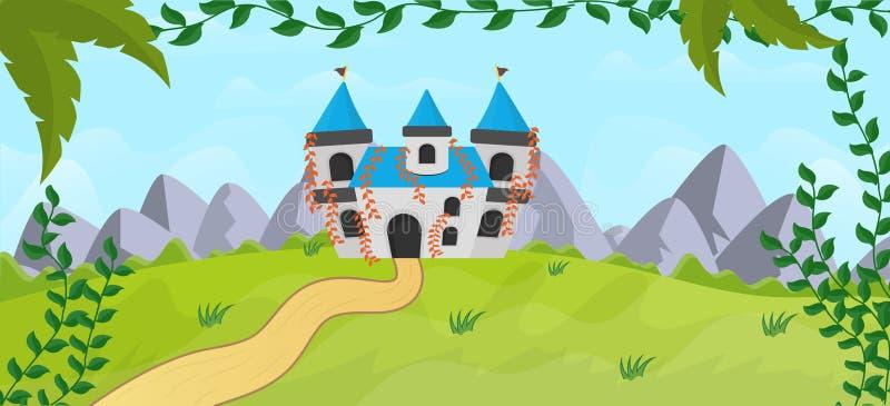 Βασιλική νεράιδα Castle ελεύθερη απεικόνιση δικαιώματος
