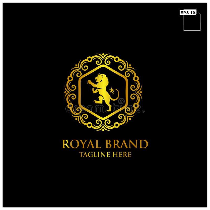 βασιλική πολυτέλεια σχεδίου λογότυπων εμπορικών σημάτων και κομψό διάνυσμα έννοιας απεικόνιση αποθεμάτων