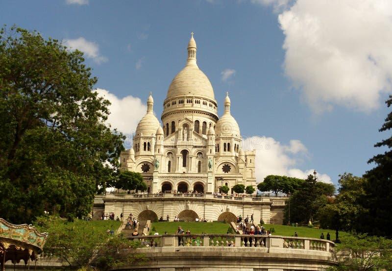 Βασιλική της ιερής καρδιάς, Παρίσι, Γαλλία στοκ φωτογραφία με δικαίωμα ελεύθερης χρήσης