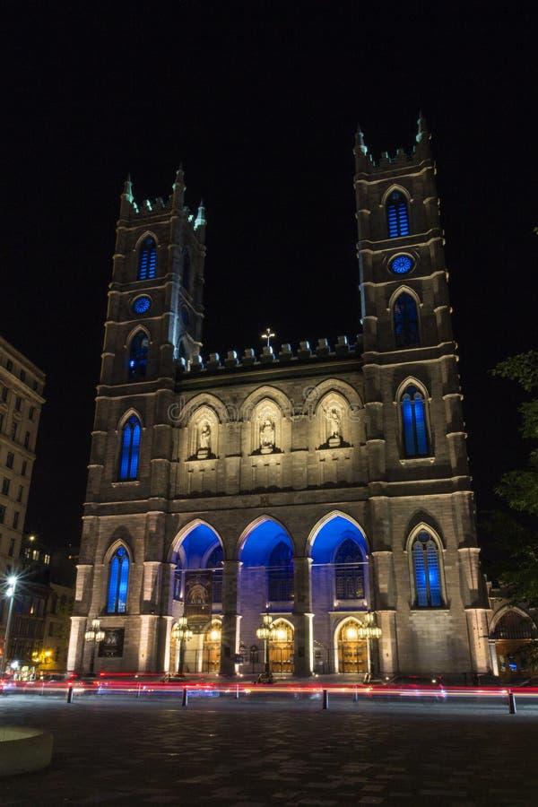 Βασιλική της Notre-Dame στο Μόντρεαλ Καναδάς στοκ εικόνες με δικαίωμα ελεύθερης χρήσης