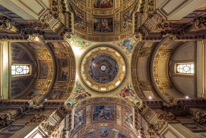 Βασιλική DIN Σάντα Μαρία Maggiore - έργα ζωγραφικής στην εκκλησία στοκ εικόνες