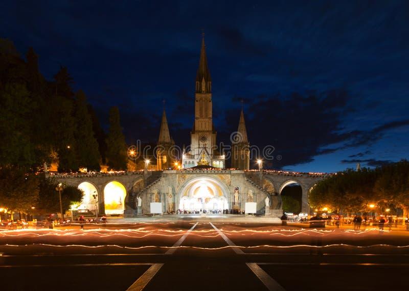 Βασιλική Lourdes στοκ εικόνες
