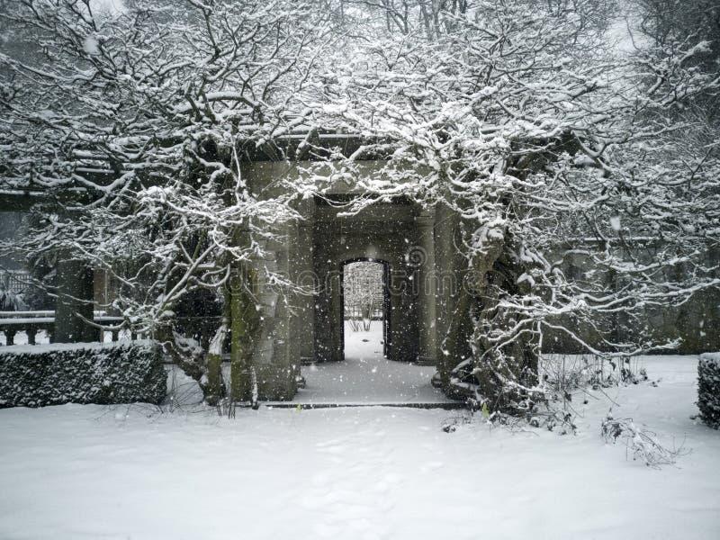 Βασιλικός κήπος οδικού πανεπιστημιακός χιονιού στοκ φωτογραφία με δικαίωμα ελεύθερης χρήσης