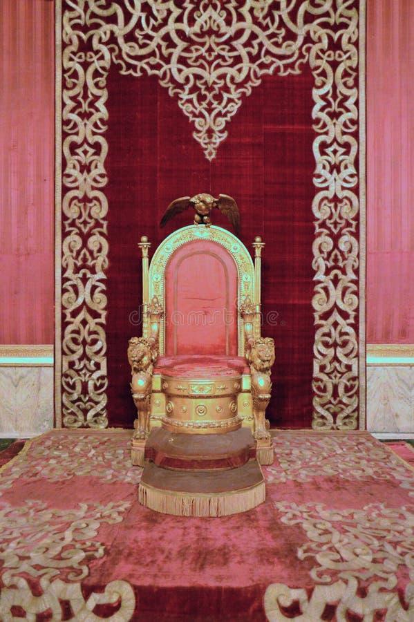 Βασιλικό δωμάτιο θρόνων παλατιών 16ου αιώνα της Νάπολης ` στοκ εικόνες με δικαίωμα ελεύθερης χρήσης