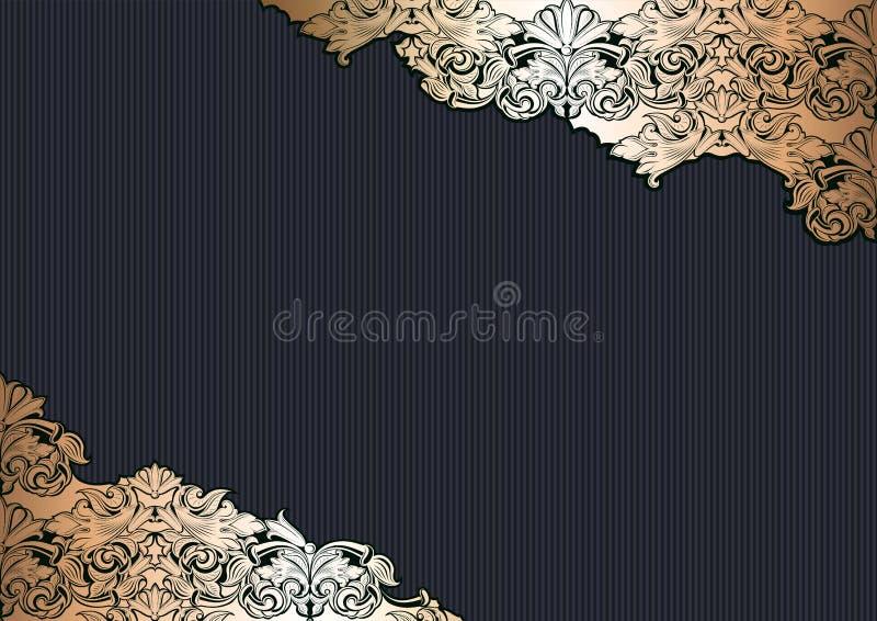 Βασιλικό, εκλεκτής ποιότητας, γοτθικό υπόβαθρο στο χρυσό και ο Μαύρος διανυσματική απεικόνιση