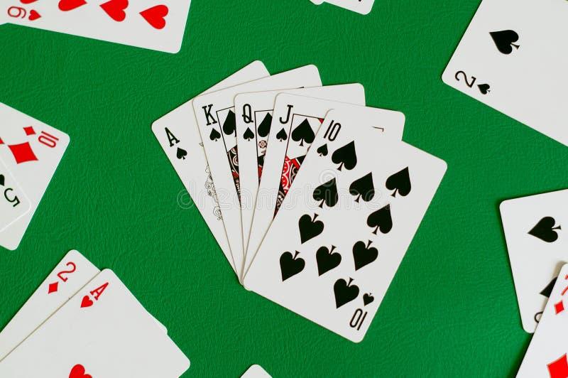 βασιλικό ευθύ επίπεδο φτυάρι, κάρτα πόκερ στοκ εικόνες με δικαίωμα ελεύθερης χρήσης
