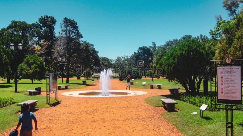 Βασιλικό κοντινό plaza SAN Martin πάρκων στο Μπουένος Άιρες στοκ εικόνες