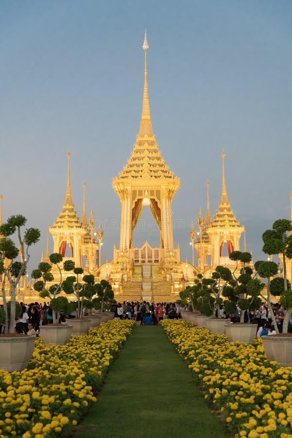 Βασιλικό κρεματόριο Μπανγκόκ στοκ φωτογραφία