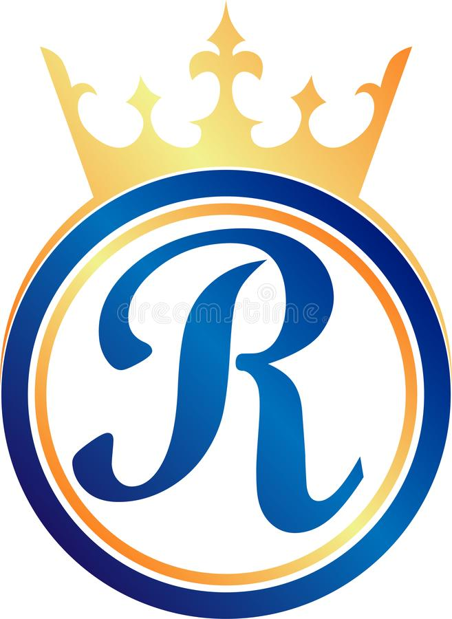 Βασιλικό λογότυπο πολυτέλειας γραμμάτων Ρ διανυσματική απεικόνιση