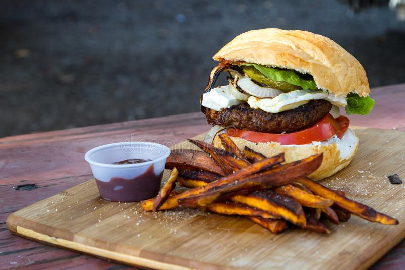 Βασισμένο στις εγκαταστάσεις burger στοκ φωτογραφία με δικαίωμα ελεύθερης χρήσης