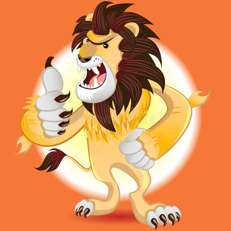 Βασιλιάς λιονταριών της μασκότ κτηνών απεικόνιση αποθεμάτων