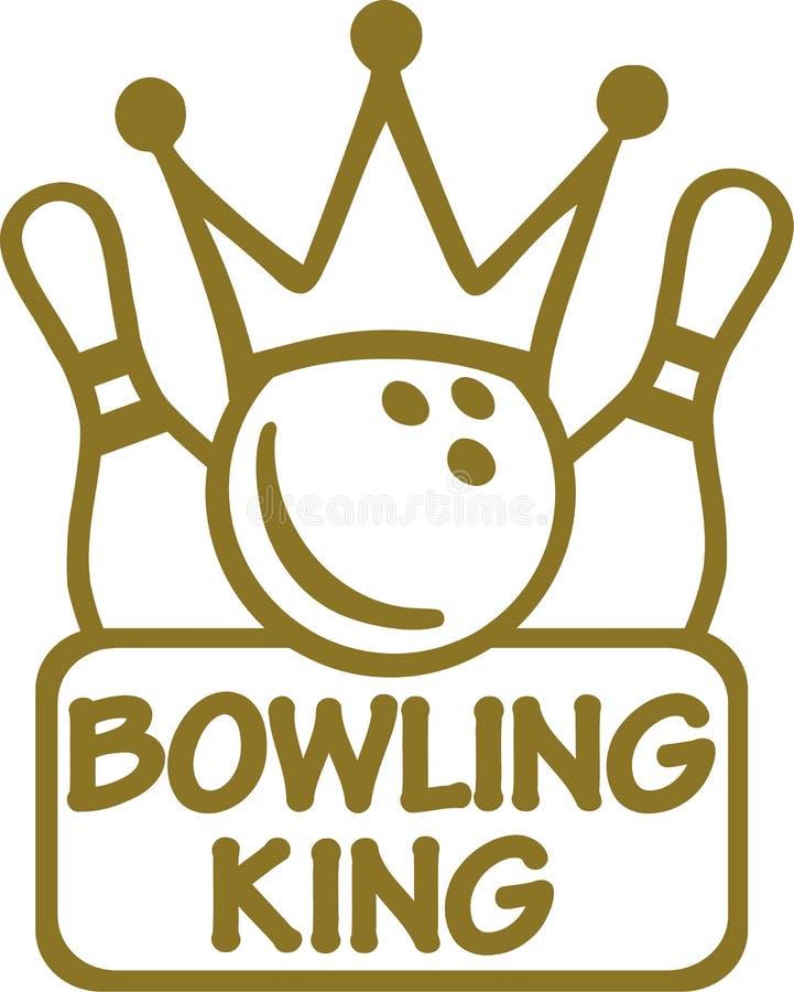 Βασιλιάς μπόουλινγκ ελεύθερη απεικόνιση δικαιώματος