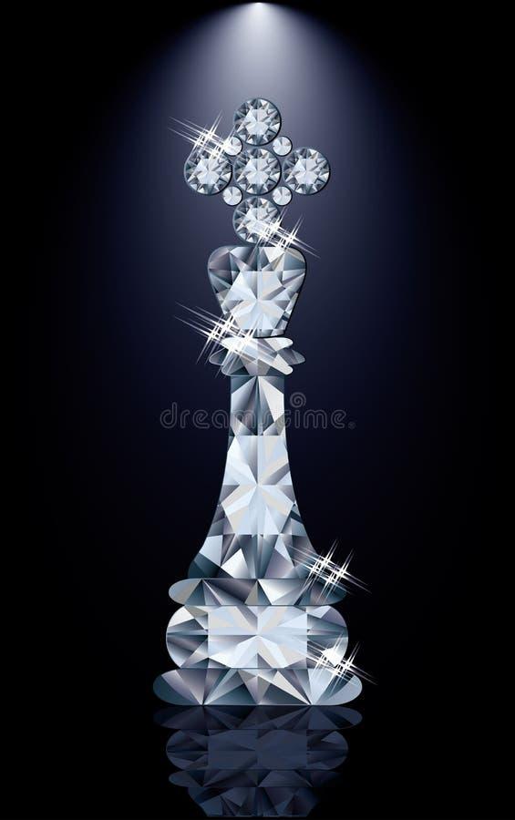 Βασιλιάς σκακιού διαμαντιών ελεύθερη απεικόνιση δικαιώματος