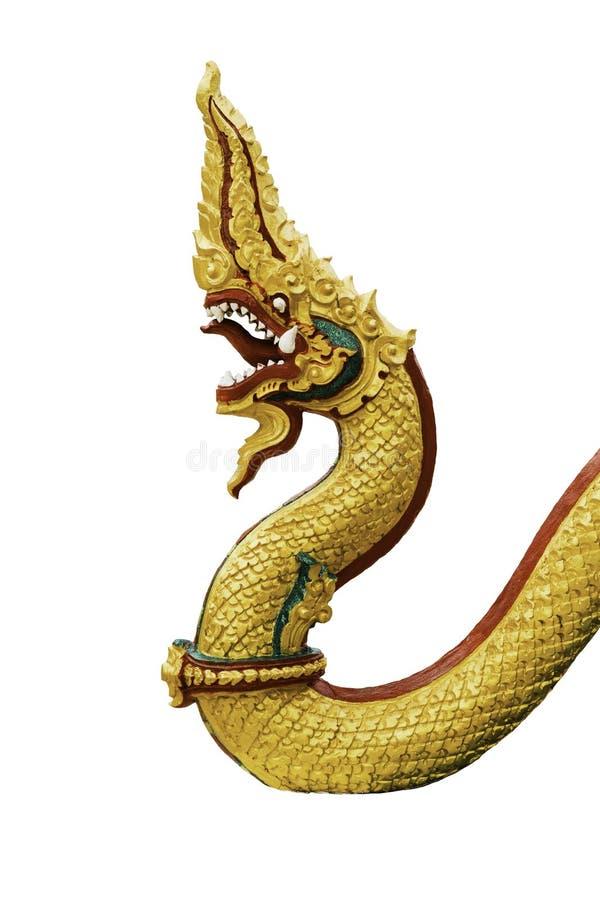 Βασιλιάς φιδιών στον ταϊλανδικό ναό στοκ εικόνα με δικαίωμα ελεύθερης χρήσης