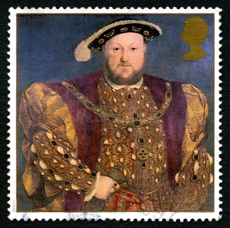 Βασιλιάς Henry VIII βρετανικό γραμματόσημο στοκ φωτογραφίες