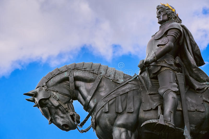 Βασιλιάς Matthias Corvin Statue στοκ φωτογραφίες