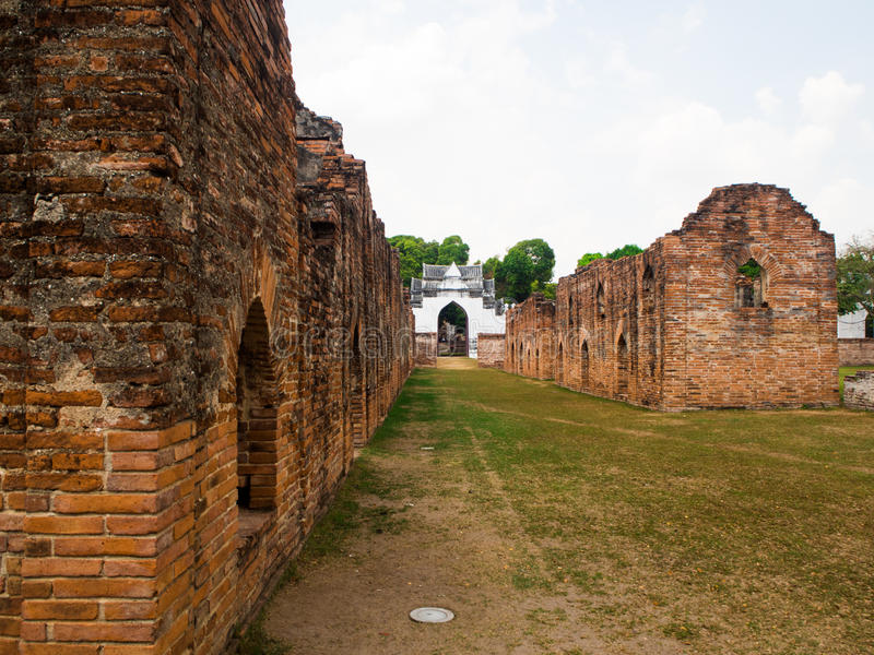 Βασιλιάς Narai το μεγάλο παλάτι, Lopburi, Ταϊλάνδη στοκ φωτογραφίες