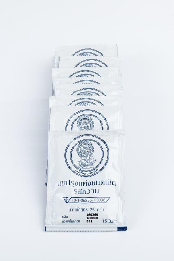 Βασιλικές ταμπλέτες γάλακτος της Ταϊλάνδης στοκ εικόνες