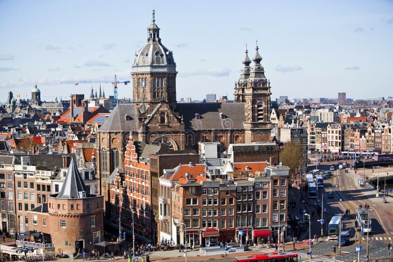 Βασιλική Άμστερνταμ του ST Nicolas στοκ εικόνα
