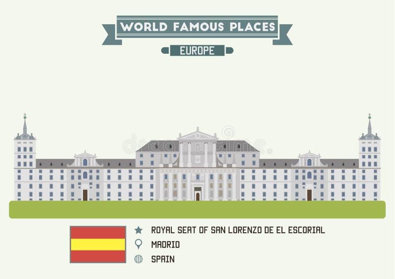 Βασιλική έδρα του SAN Lorenzo de EL Escorial Μαδρίτη διανυσματική απεικόνιση