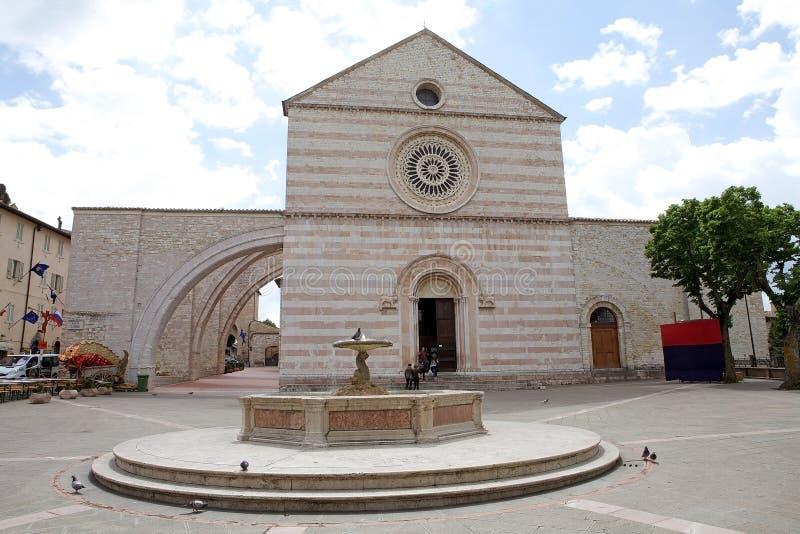 Βασιλική Αγίου Clare σε Assisi, Ουμβρία, Ιταλία στοκ εικόνες