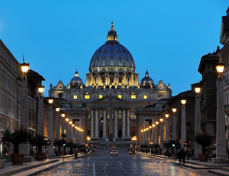 Βασιλική Αγίου Peter, Βατικανό στοκ εικόνες