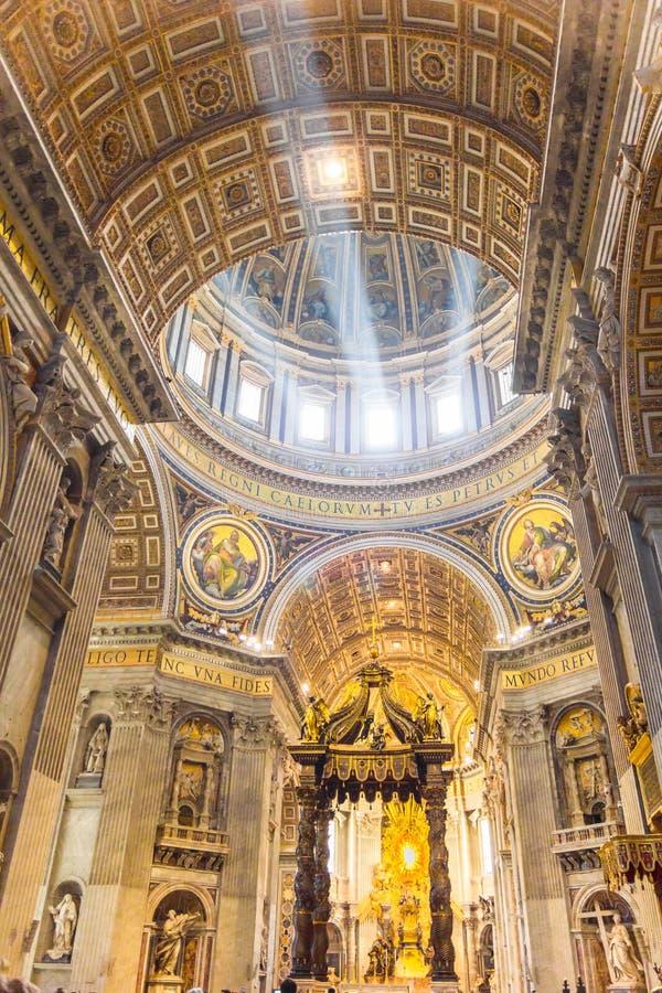Βασιλική Αγίου Peter, πόλη του Βατικανού στοκ εικόνες