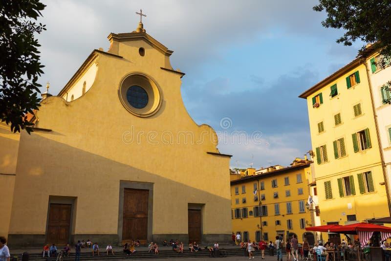 Βασιλική και τετραγωνικό Santo Spirito στη Φλωρεντία, Ιταλία στοκ εικόνα