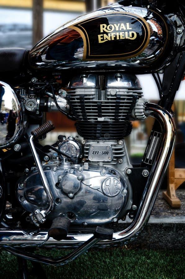 Βασιλική μηχανή μοτοσικλετών Enfield στοκ φωτογραφία με δικαίωμα ελεύθερης χρήσης