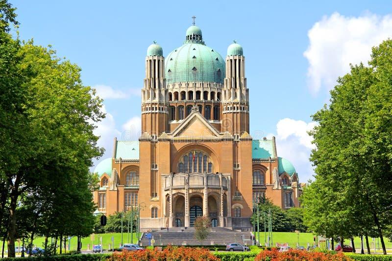 Βασιλική της ιερής καρδιάς στις Βρυξέλλες στοκ φωτογραφία