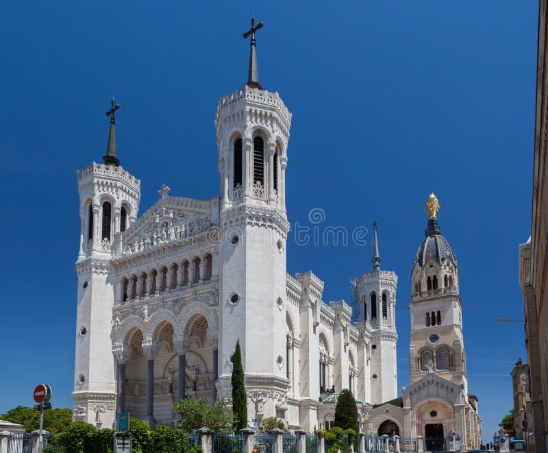 Βασιλική της Notre-Dame de Fourvière Λυών Γαλλία στοκ φωτογραφίες