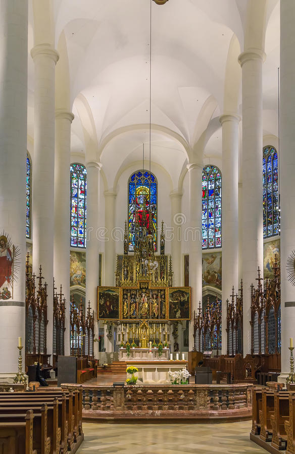 Βασιλική του ST Jacob, Straubing, Γερμανία στοκ εικόνες