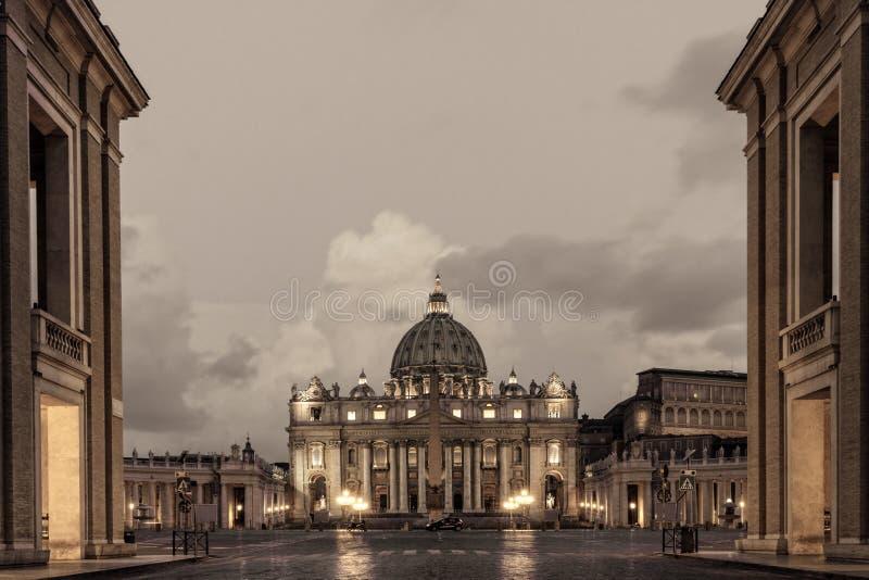 Βασιλική του ST Peters στη Ρώμη στοκ φωτογραφία