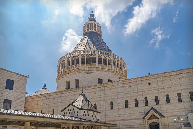 Βασιλική Annunciation, ένας Ρωμαίος - καθολική εκκλησία σε Nazaret στοκ εικόνα