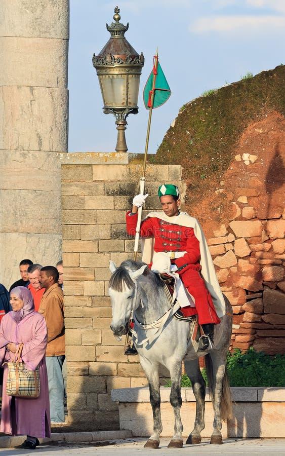 Βασιλικός φύλακας, Rabat (Μαρόκο) στοκ εικόνες