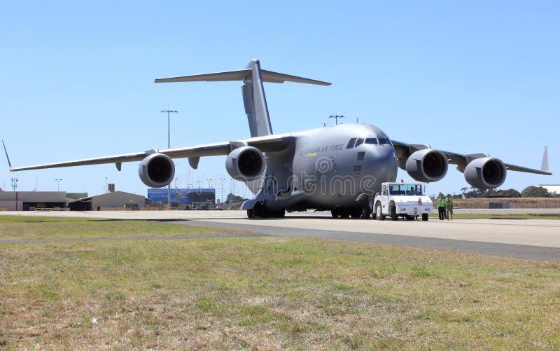 Βασιλικό αυστραλιανό αεροπλάνο πολεμικής αεροπορίας στοκ εικόνες