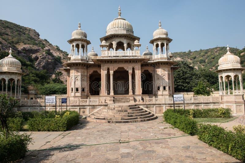 Βασιλικό κρεματόριο στο Jaipur στοκ εικόνα