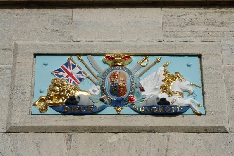 Βασιλικό ναυτικό σύμβολο ναυπηγείων, Βερμούδες στοκ εικόνες