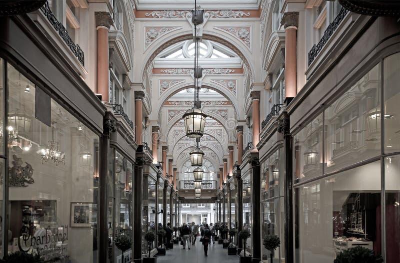 Βασιλικό arcade Galleria στοκ εικόνες με δικαίωμα ελεύθερης χρήσης