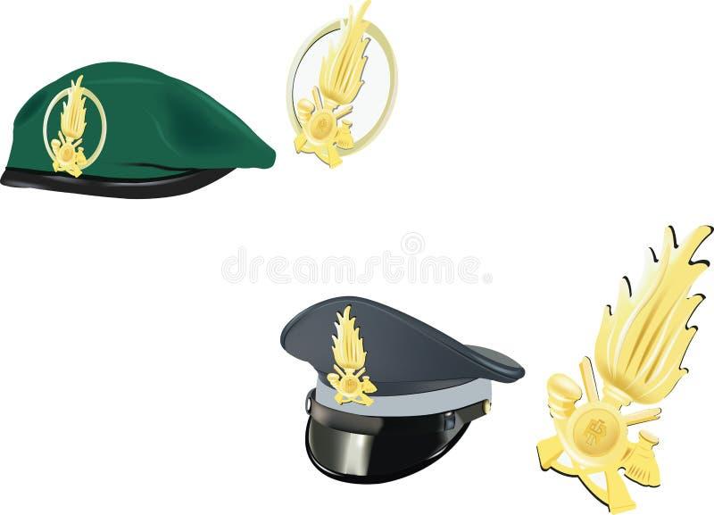 Βασκικό πράσινο καπέλο χρηματοδοτών καπέλων αστυνομίας με το γείσο διανυσματική απεικόνιση
