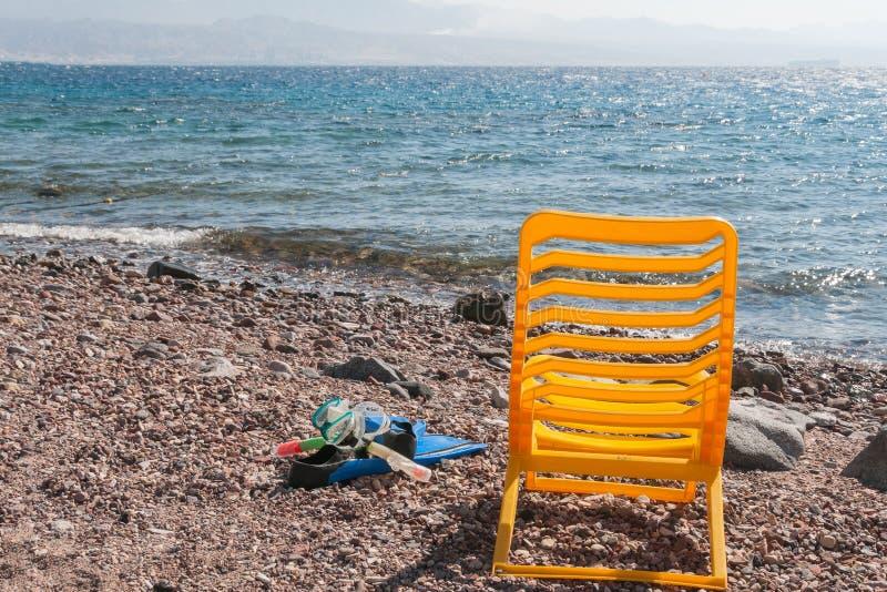 Βατραχοπέδιλα, μάσκα και θερμή θάλασσα στοκ εικόνες με δικαίωμα ελεύθερης χρήσης