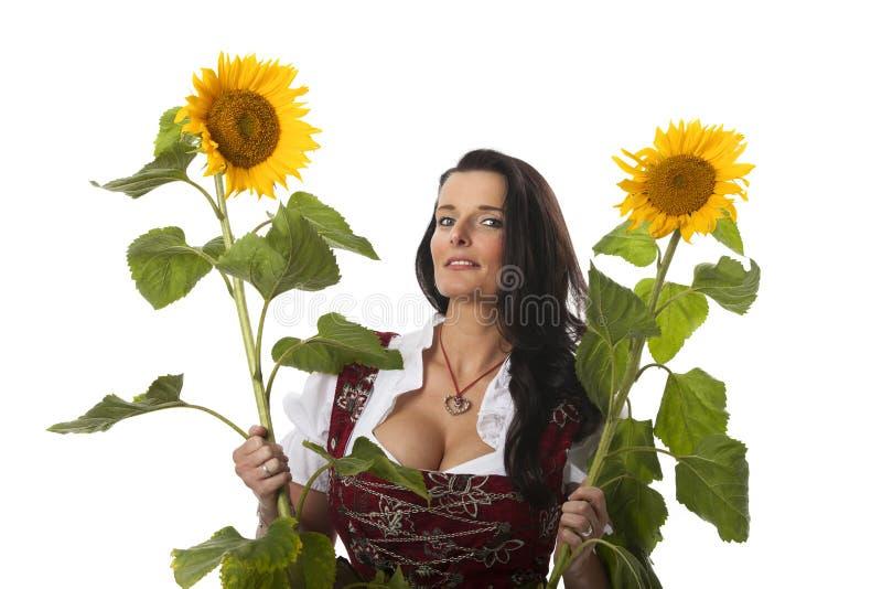 Βαυαρική γυναίκα στοκ φωτογραφίες με δικαίωμα ελεύθερης χρήσης