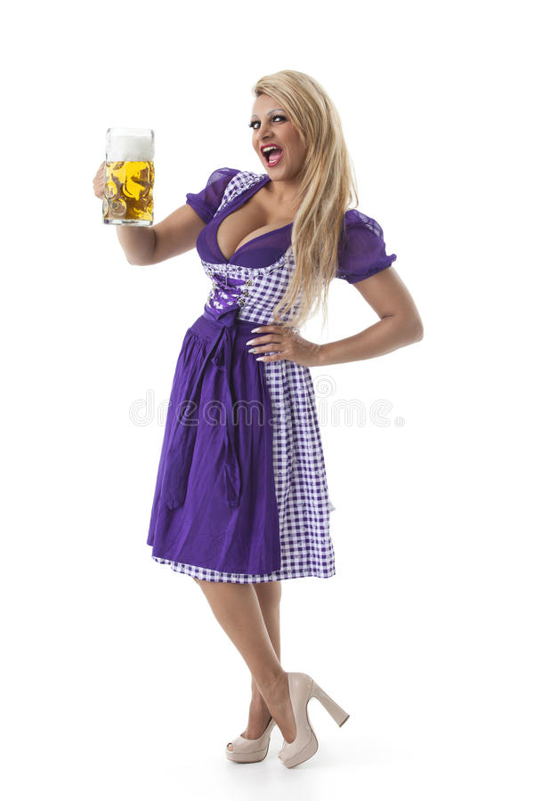 Βαυαρική γυναίκα στοκ εικόνα με δικαίωμα ελεύθερης χρήσης