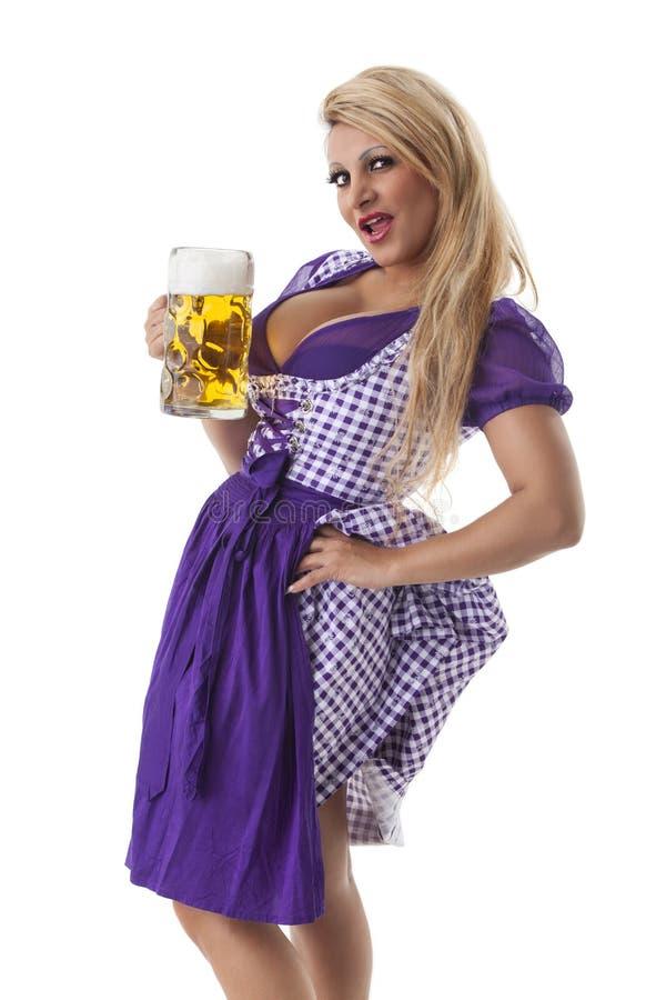 Βαυαρική γυναίκα στοκ εικόνες με δικαίωμα ελεύθερης χρήσης