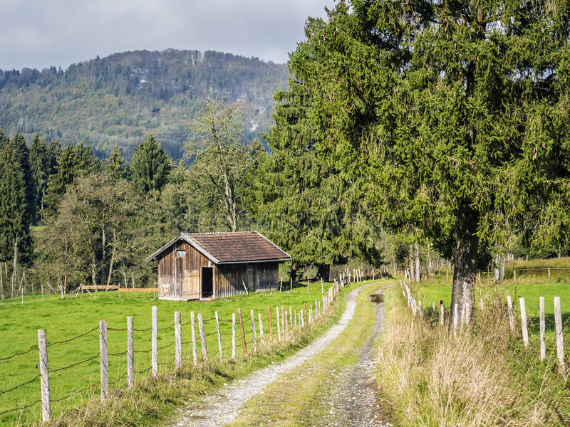 Βαυαρικό τοπίο Allgau στοκ φωτογραφία με δικαίωμα ελεύθερης χρήσης