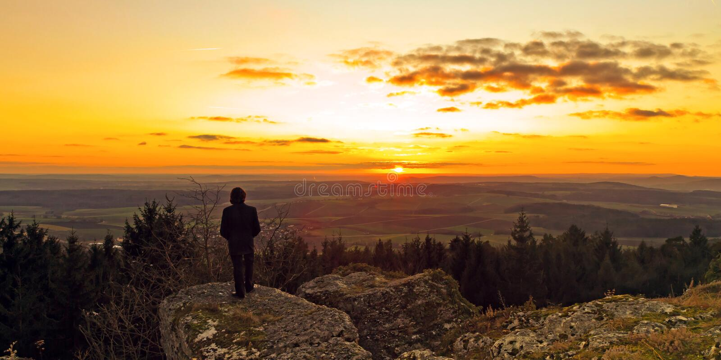 Βαυαρικό χειμερινό ηλιοβασίλεμα στοκ εικόνα