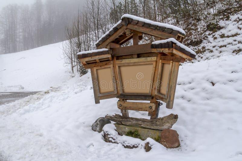 Βαυαρικό χειμερινό τοπίο στοκ φωτογραφία